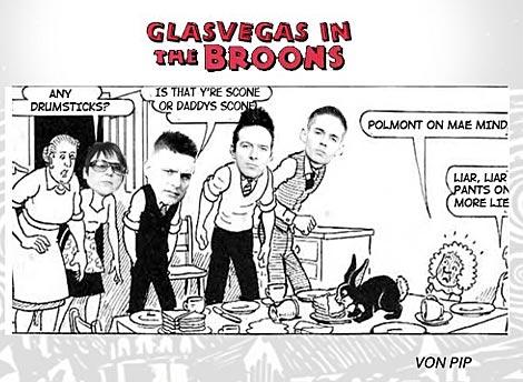 "Glasvegas in ""The Broons"""