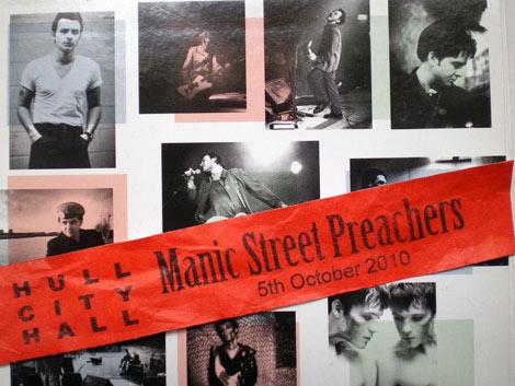 MANIC STREET PREACHERS : HULL CITY HALL : OCTOBER 5th 2010