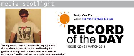 Andy Von Pip ROTD Media Spotlight