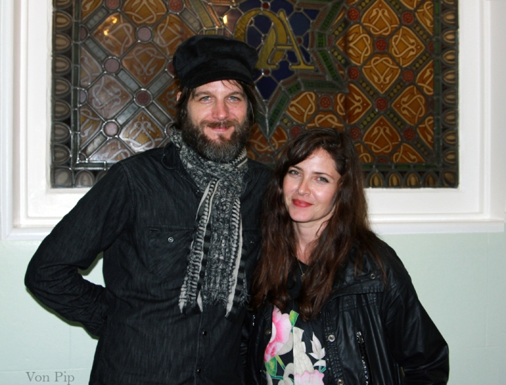 Sarabeth Tucek And Luther Russell in Liverpool Septmber 2011.