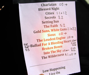 Howling Bells Set-list Manchester 20/09/2011